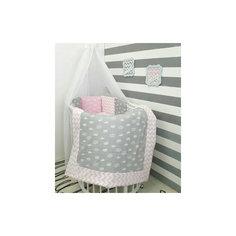 """Постельное белье для круглых кроваток """"Короны"""", 7 предм., by Twinz, розовый"""