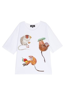 Хлопковый свитшот Three Monkeys КАТЯ ДОБРЯКОВА