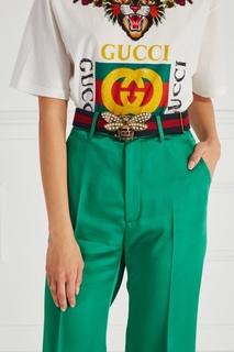 Текстильный ремень Gucci
