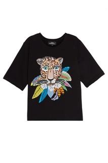 Хлопковый свитшот Leopard In Leaves КАТЯ ДОБРЯКОВА