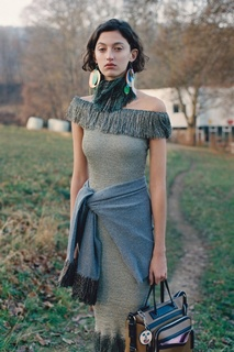Платье с люрексом Christopher Kane