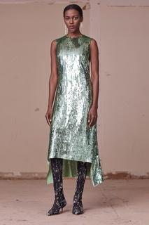 Шелковое платье в пайетках Altuzarra