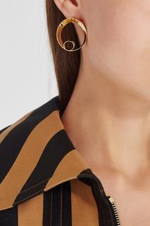 Золотистые серьги-кольца Lisa Smith