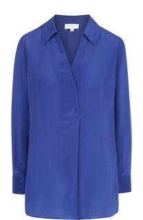 Шелковая блуза свободного кроя с V-образным вырезом Escada Sport