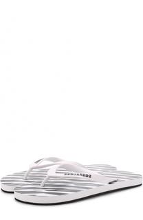 Резиновые шлепанцы с логотипом бренда Dsquared2