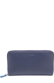 Кожаное портмоне на молнии с отделением для кредитных карт и монет Furla