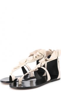 Кожаные сандалии с бахромой Isabel Marant
