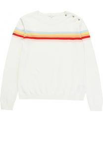 Пуловер джерси с принтом и пуговицами на плече Chloé