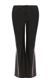 Укороченные расклешенные брюки из кожи Simonetta Ravizza
