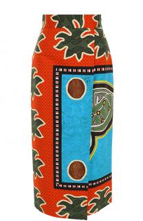 Юбка-миди с широким поясом и ярким принтом Stella Jean