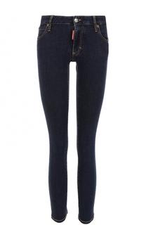 Однотонные укороченные джинсы-скинни Dsquared2