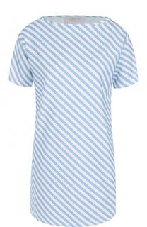 Удлиненная футболка прямого кроя в полоску Tak.Ori