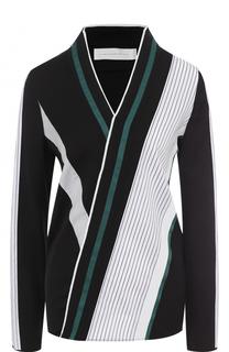 Блуза прямого кроя с V-образным вырезом Victoria by Victoria Beckham