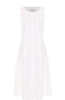 Хлопковое платье с поясом и круглым вырезом Forte_forte