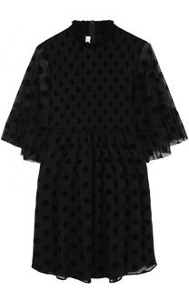 Мини-платье с завышенной талией и коротким рукавом MCQ