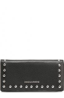 Кожаный кошелек с заклепками Dsquared2