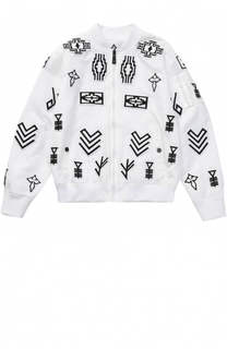 Бомбер с контрастными нашивками Marcelo Burlon Kids of Milan
