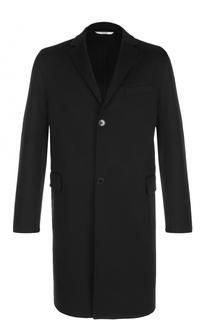 Однобортное пальто из смеси шерсти и кашемира Valentino