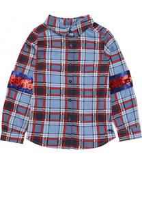 Блуза с принтом и отделкой пайетками Marc Jacobs