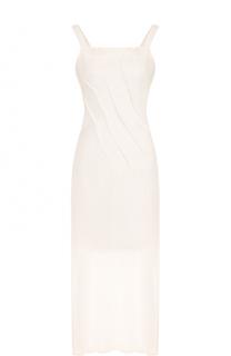 Приталенное платье-макси с открытой спиной Isabel Benenato