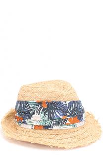 Соломенная шляпа с контрастной лентой Il Trenino