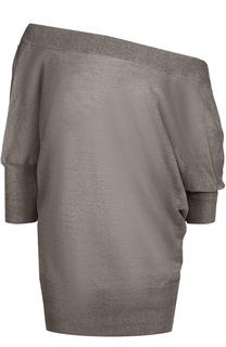 Полупрозрачный пуловер с открытой спиной Tegin