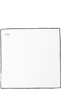 Льняной платок с контрастным кантом Eton