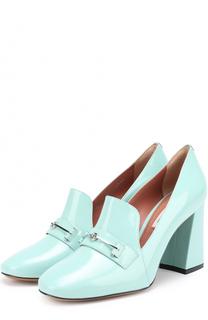 Лаковые туфли с пряжкой на устойчивом каблуке Bally
