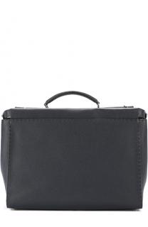 Кожаная дорожная сумка с плечевым ремнем Fendi