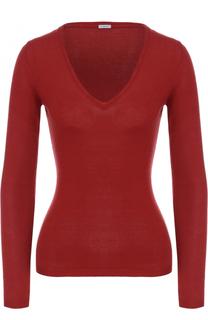 Облегающий пуловер с V-образным вырезом malo