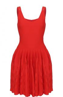 Приталенное мини-платье без рукавов Alaia