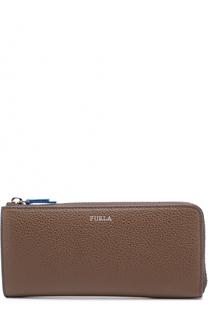 Кожаное портмоне на молнии с отделениями для кредитных карт и монет Furla