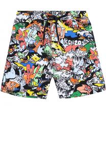 Хлопковые шорты с принтом Kenzo