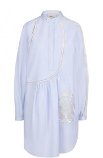 Удлиненная хлопковая блуза с разрезами 3.1 Phillip Lim