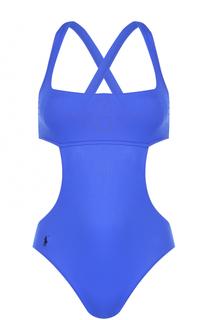 Слитный купальник с открытой спиной Polo Ralph Lauren
