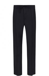 Шерстяные брюки прямого кроя с лампасами Valentino