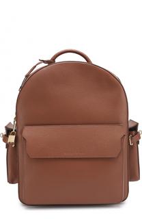Кожаный рюкзак с внешними карманами Buscemi
