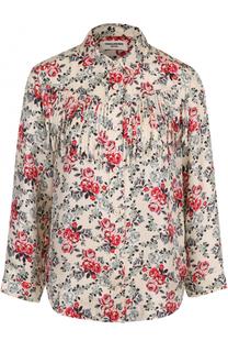 Шелковая блуза с цветочным принтом и бахромой Zadig&Voltaire Zadig&Voltaire