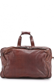 Кожаная дорожная сумка с плечевым ремнем Numero 10