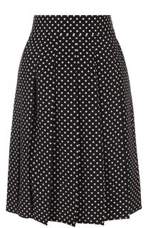 Шелковая плиссированная юбка в горох Marc Jacobs