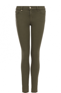 Однотонные джинсы-скинни HUGO
