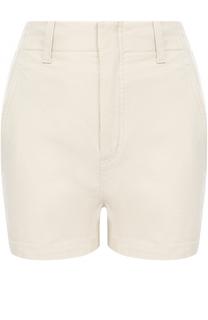 Мини-шорты с завышенной талией и карманами Vince