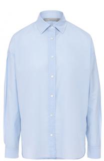 Хлопковая блуза свободного кроя Vince