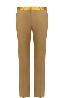 Хлопковые брюки прямого кроя Alexander McQueen