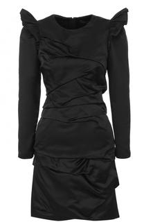 Шелковое мини-платье с драпировкой Marc Jacobs