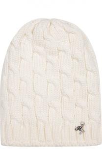 Шерстяная вязаная шапка с декором Il Trenino