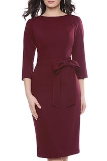 Платье с бантом на поясе Olivegrey