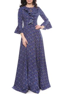 Длинное платье с клешенными рукавами Olivegrey