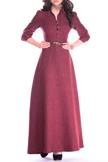 Платье-макси с поясом  расклешенное к низу REBECCA TATTI