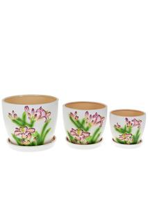 Горшки для цветов, набор Gloria Garden